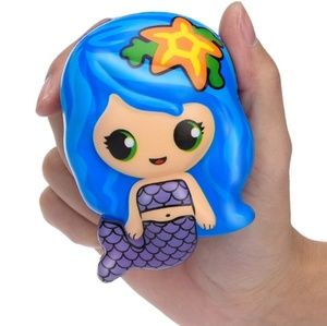 🧜Cute Blue Kawaii Mermaid Squishy Stress Relief